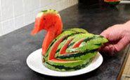 طراحی جالب هندوانه به شکل مرغابی