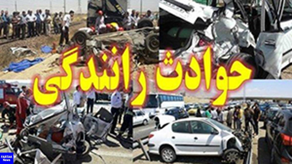 5 کشته و زخمی در رفسنجان با 2 حادثه رانندگی