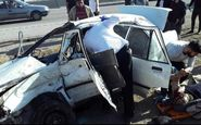 تصادف زنجیرهای در جاده ساوه به تهران + تصاویر