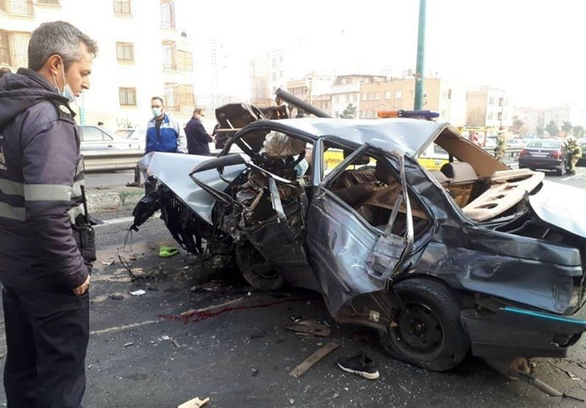 ۲ کشته و ۱۶ مجروح در تصادفات ۵ فروردین تهران/ متواری شدن راننده پس از تصادف مرگبار با عابرپیاده
