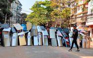 اعتراضات ادامه دار در میانمار
