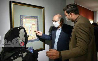 اختصاصی/ تصاویر دیدنی ازافتتاحیه نمایشگاه خوشنویسی استاد عبداله جواری