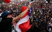 درگیری پلیس ضدشورش در شیلی با معترضان