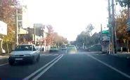 تردد تاکسی عجیب و دودزا در سطح شهر! + فیلم