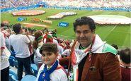 سالار عقیلی و پسرش در ورزشگاه سن پترزبورگ روسیه