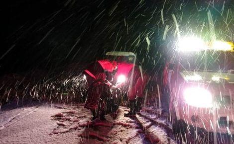 گرفتار شدن118زن و مرد و کودک در برف و کولاک