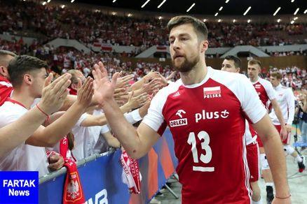 محرومیت ۶ جلسه ای کاپیتان تیم والیبال لهستان به دلیل توهین به مردم ایران