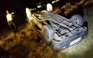 واژگونی خودرو پژو۴۰۵ حامل اتباع افغان