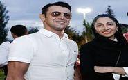 امین حیایی و همسرش به همراه رویا نونهالی در جشن حافظ