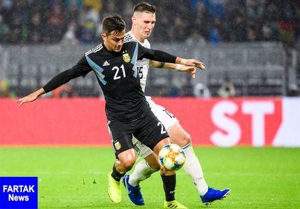 آرژانتین بدون مسی هم تسلیم آلمان نشد