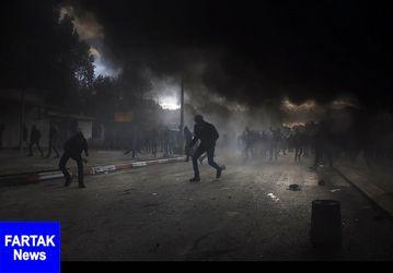 درگیری شهروندان خشمگین فلسطینی و نظامیان صهیونیست به روایت تصویر