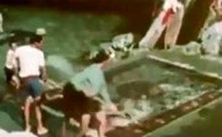 قالیشویی تهرانیها در چشمه ۸۰۰۰ ساله