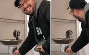 اقدام خیرخواهانه و جالب یک مرد مهربان در مواجهه با کبوتر تشنه + فیلم