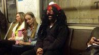 عجیبترین تصاویر ثبت شده از مسافران مترو