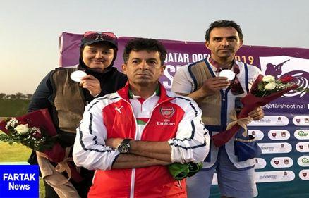 تیراندازان ایرانی به مدال نقره رشته میکس تراپ دست یافتند