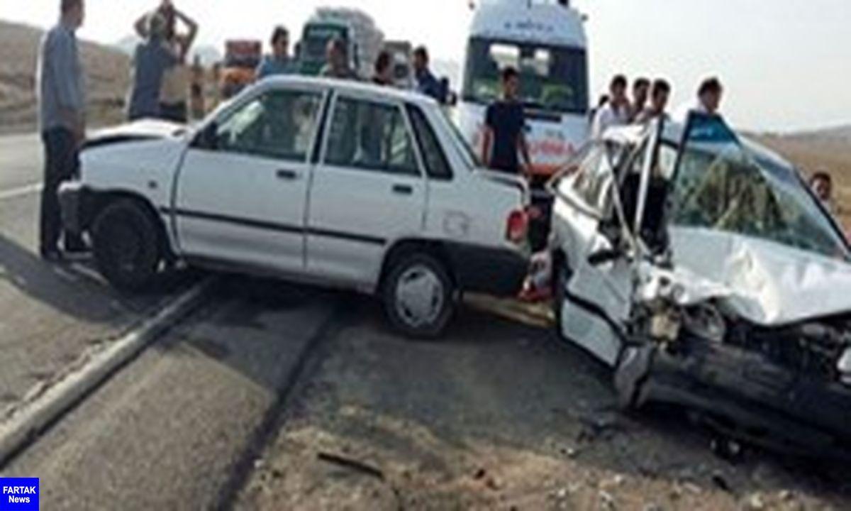 بر اثر تصادف در محور سپیدان ۲ نفر جان باختند