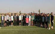 حضور رئیس فراکسیون ورزش و جوانان مجلس در تمرین تراکتور