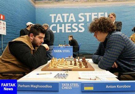 شکست مقصودلوتنها نماینده تاریخ شطرنج ایران در رقابتهای معتبر تاتا استیل برابر شانس نخست قهرمانی