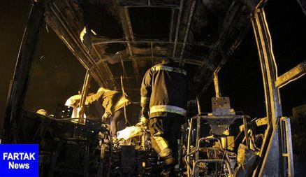 جزئیات حادثه برخورد تانکر با اتوبوس در سنندج