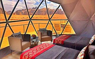 بیابانهای اردن و هتلهای گنبدی شکل تجملاتی + فیلم