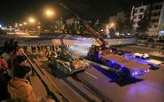حادثه در اصفهان؛پل هوایی سقوط کرد!