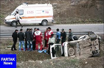 تصادف مرگبار در محلات یک کشته و ۳ مصدوم برجای گذاشت