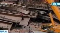 خروج مرگبار قطار از ریل در چین +فیلم