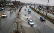 بارش برف و باران درمحورهای چهار استان/ترافیک در آزادراه تهران-کرج