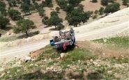 مرگ ۲ سرنشین بر اثر سقوط و آتشسوزی خودرو در تالش