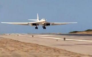 فرود بمب افکنهای روسیه در ونزوئلا