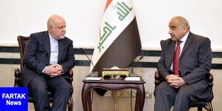 دیدار زنگنه با نخست وزیر عراق در بغداد
