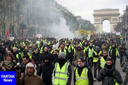 افزایش خشونتها در اعتراضات جلیقه زردهای فرانسه
