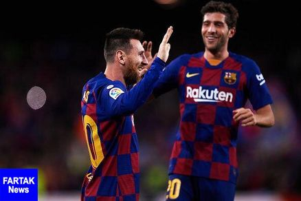 بارسلونا با هت تریک مسی پیروز شد