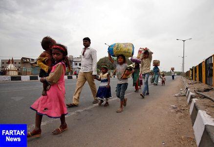 شرایط سخت کارگران هندی در میان شیوع کرونا