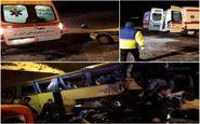 16 کشته و مصدوم در پی واژگونی اتوبوس محور ساوه - سلفچگان