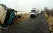 واژگونی مینیبوس در شهرستان ری ۱۱ مصدوم برجای گذاشت
