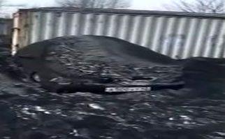 بارش برف سیاه در سیبری! + فیلم