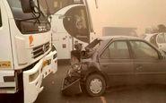 تصادف زنجیرهای  خودروها در محور نیشابور با ۷ مصدوم