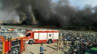 آتش سوزی و انفجار در یک انبار بزرگ پایتخت