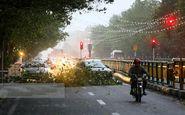 وقوع ٢٠ حادثه مرتبط با طوفان در تهران