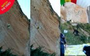 برخورد شدید چترباز فرانسوی به دیواره کوه