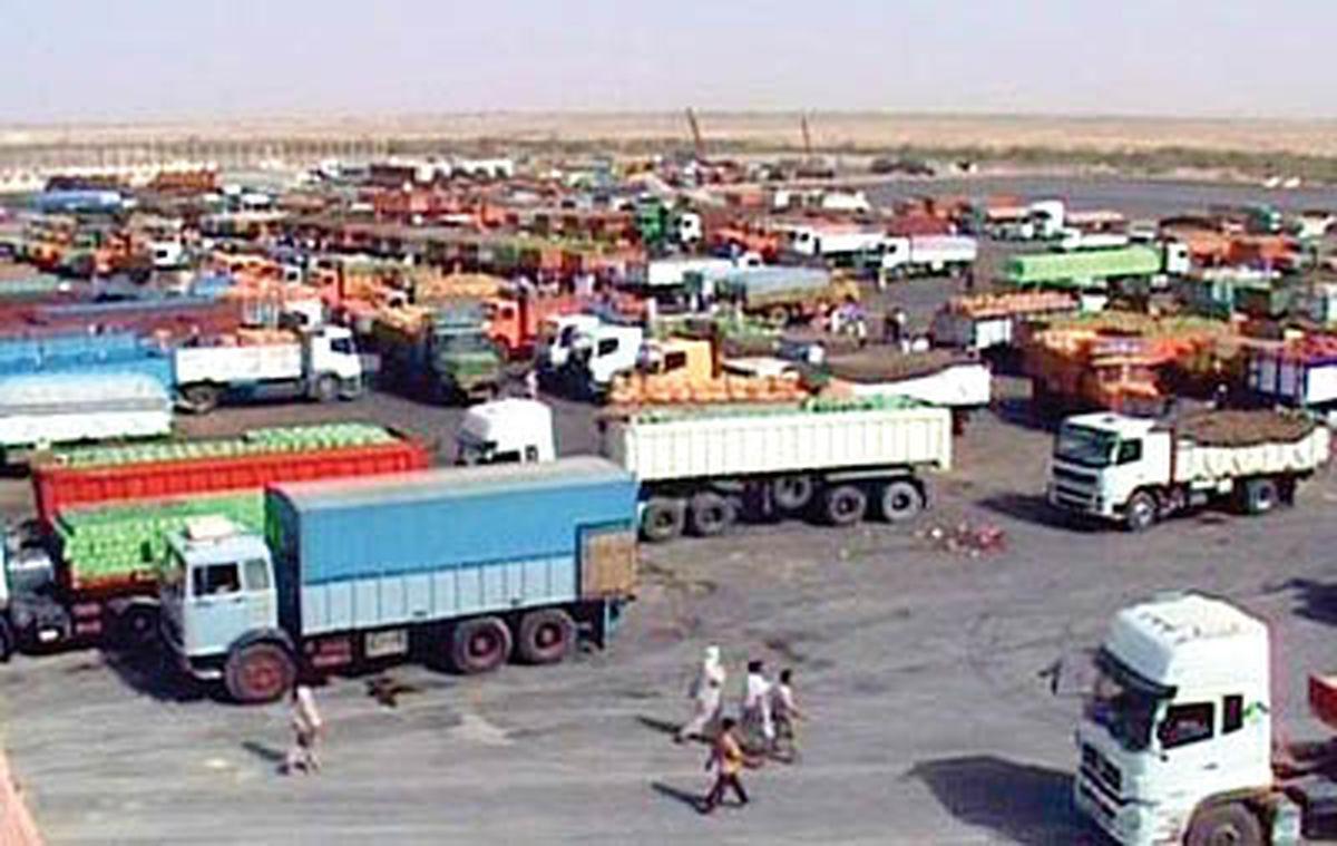 صادرات ۳۴۴ میلیون دلاری از مرز مهران به کشور عراق