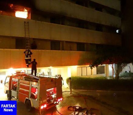 آتش سوزی بامدادی یک هتل در قشم