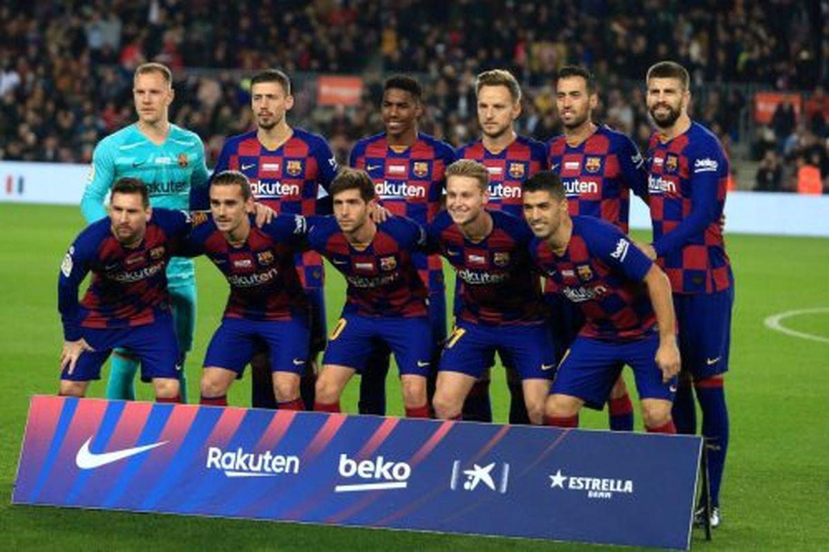 ترکیب تیمهای فوتبال بارسلونا و سویا مشخص شد