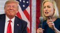 واکنش تمسخرآمیز ترامپ به کناره گیری سناتور«گیلیبراند» از رقابتها