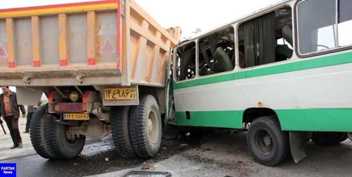 ۴ کشته و ۱۱ زخمی در تصادف رانندگی محور سقز به مریوان