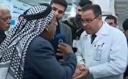 فوت یک مرد معترض به کمبود دارو در مقابل دوربین تلویزیونی