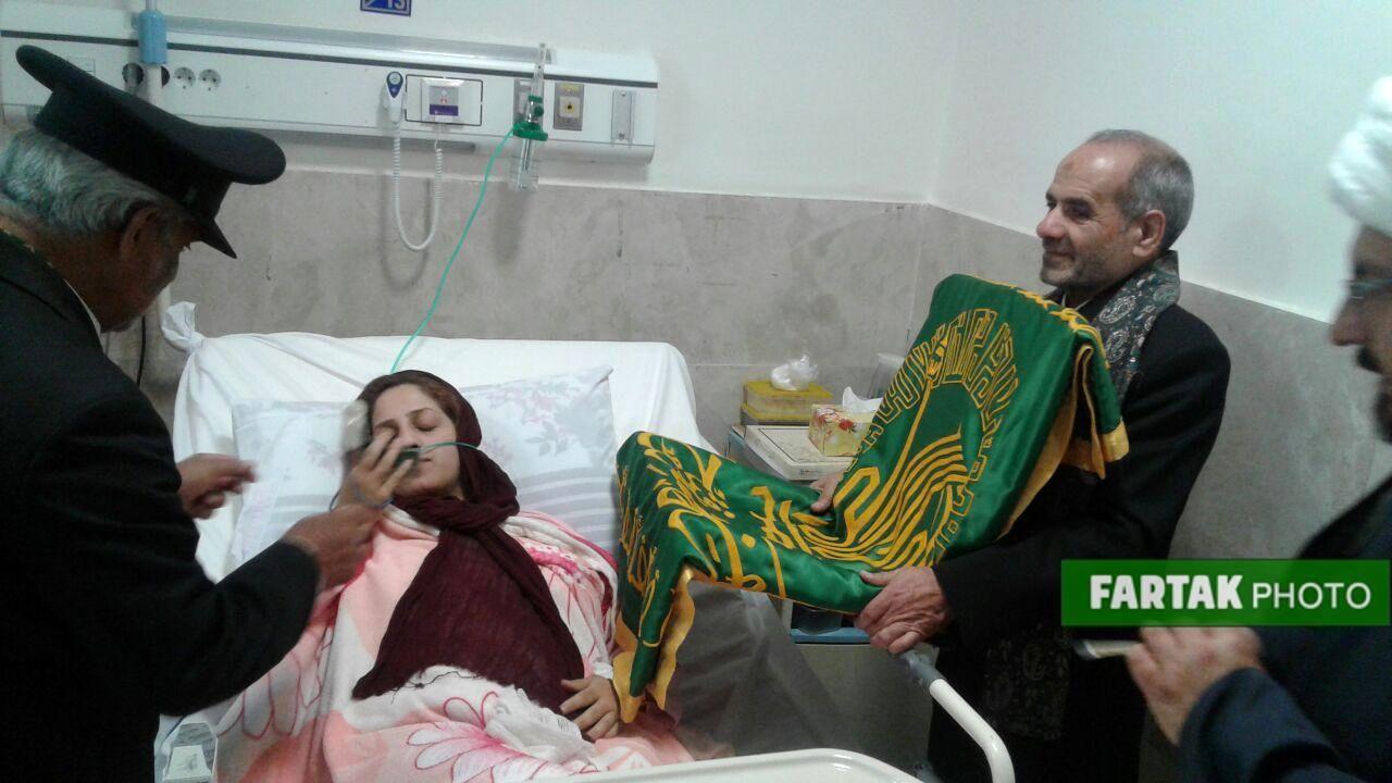 حضور خادمان حرم رضوی در بیمارستان آیت الله طالقانی و امام علی (ع) و به روایت تصویر