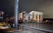 گردباد در آلاباما چندین خانه را ویران و تعدادی را مجروح کرد