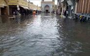بازار وکیل شیراز زیر آب رفت